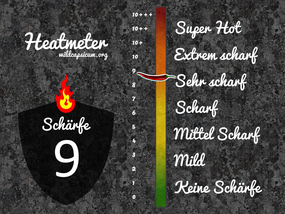 Scoville Schärfegrad 9