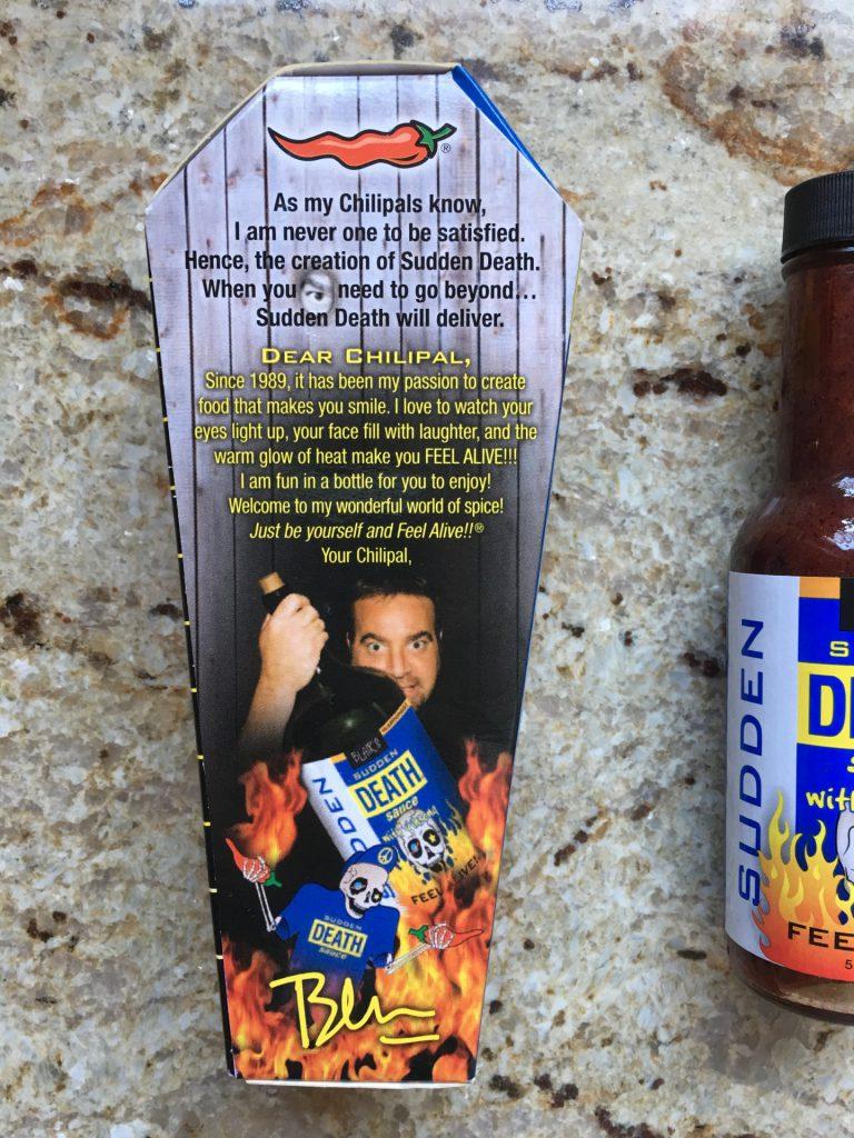 Blair's Sudden Death Sauce Geschmack