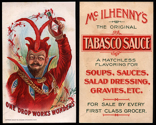 Tabasco Alte Werbung